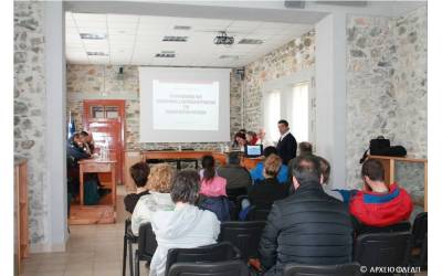 Meeting addressing the issue of wildfires in the Prespa National Park