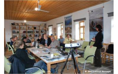 Transdundary meeting for the managment of incidences of disease outbreaks in waterbirds in Prespa
